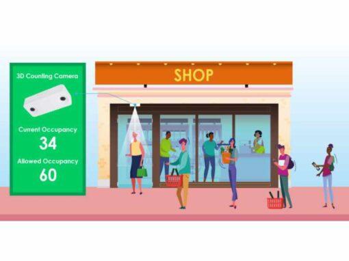 Einlasskontrolle und Besucherzähler für den Einzelhandel