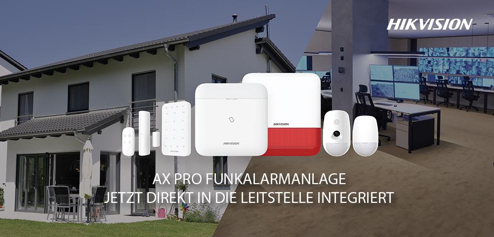 Die AVT erweitert sein Sortiment um das Funkalarmsystem AX PRO von HIKVISION
